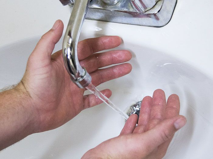 Step 3: Wash hands with soap and water
